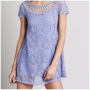 Free People Lilac Lace Dress XS